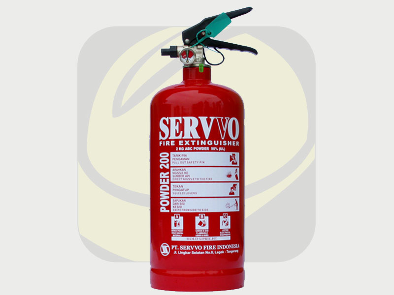 Safety Fire - Jual Tabung Apar Powder 2kg Merk Servvo di Denpasar
